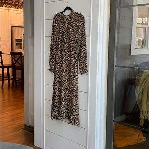 JCrew leopard midi dress !! BNWT